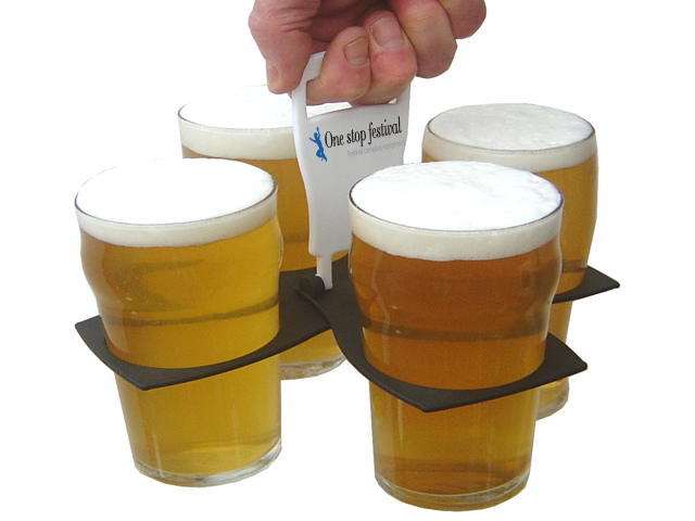 drinks carrier carry 4 pints in one hand perfect for festivals