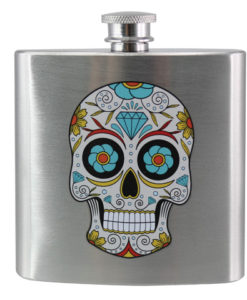 Hip Flask- Sugar Skull Design