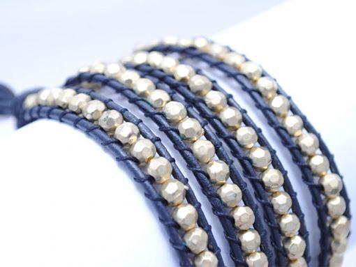 Ladies_bracelet_Gold_beed_LB2
