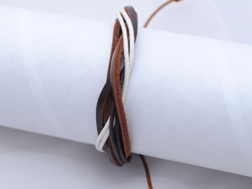 Mens_bracelet_Black_brown_white_BM8