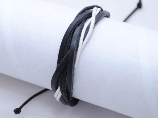 Mens_bracelet_Black_white_BM10