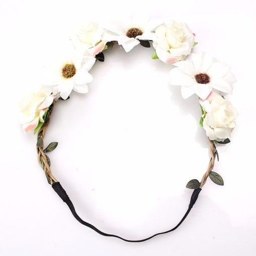 White Floral Headband