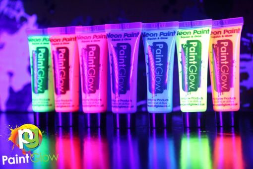 paintglowset7-10ml-uvfacepaints